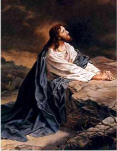 Ketika Yesus Berdoa di Taman Getsemani.