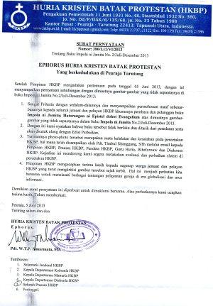 Surat Pernyataan Ephorus